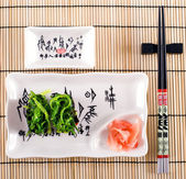 Land. Seaweed. The Japanese ware — Stock Photo