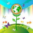 Royalty-Free Stock Vector Image: Eco Earth flowers