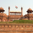 Stock Photo: Red Fort Flag Hoisted