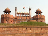 Red Fort Flag Hoisted — Stock Photo