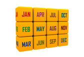 Month in boxes — Stock Photo