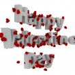 3D happy Valentines day — Stockfoto