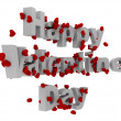 3d happy valentines day — Stock fotografie