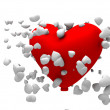 Stock Photo: Heart with multiple heart
