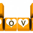 Royalty-Free Stock Photo: Love on keybaord