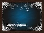 Christmas frame chalkboard merry christmas — Stock Photo