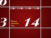 San valentín día fecha — Foto de Stock