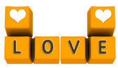 Love on keyboard keys — Stock Photo