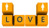 Love on keyboard — Stock Photo