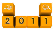 2011 on keys — Stock Photo
