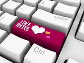 Love bytes — Stock Photo