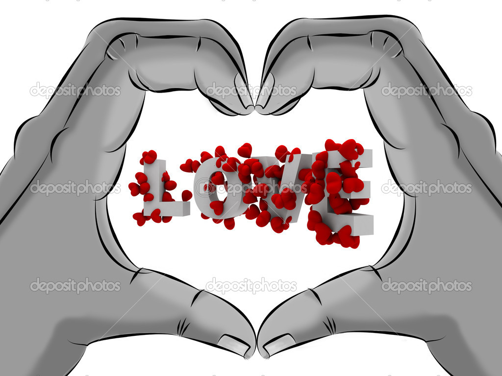 Love hearts with hands shape heart — Stock Photo #5098624