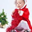 Little serious santa — Stock Photo #4298759