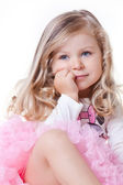 Angelic blonde toddler girl — Stock Photo