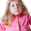 Portrait of beautiful  blonde toddler girl — Stock Photo