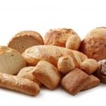 verschiedene bäckerei isolierten auf weißen hintergrund — Stockfoto