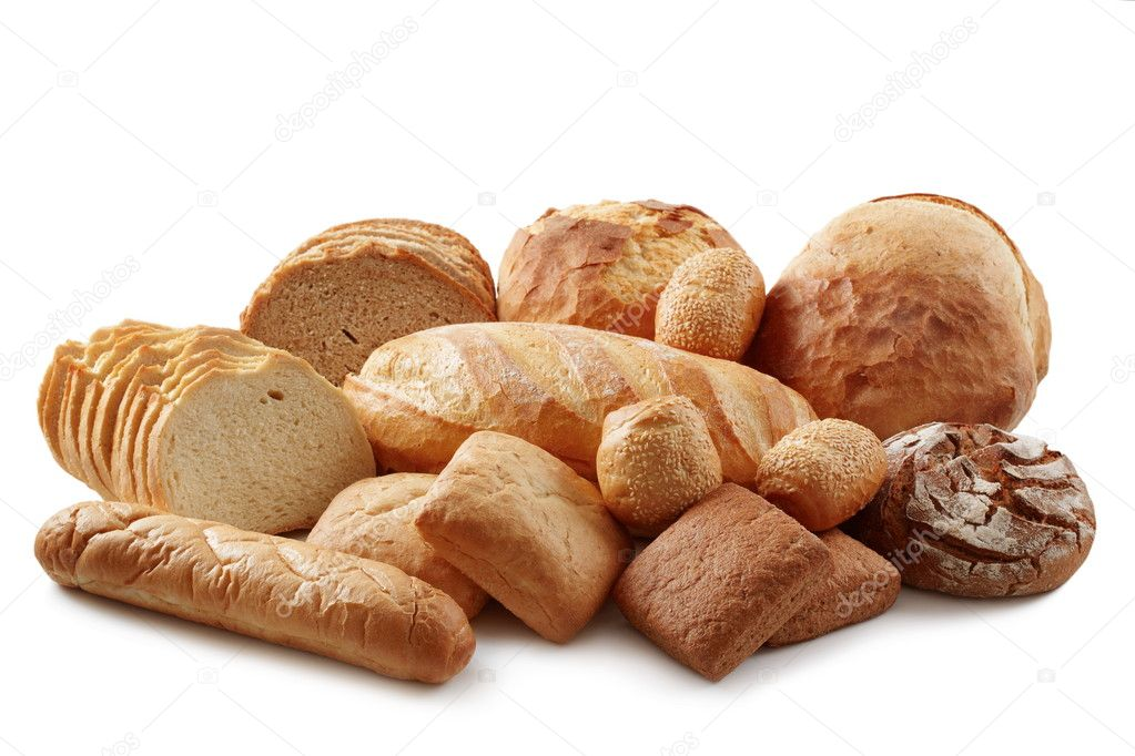 Group of different bread products — Stock Photo #4178242