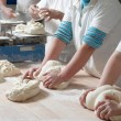 Working bakery team — Foto Stock