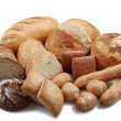 Stock Photo: Group of different bread products