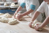 Preparing bread — Stock Photo
