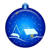 Christmas night globe — Stock Photo