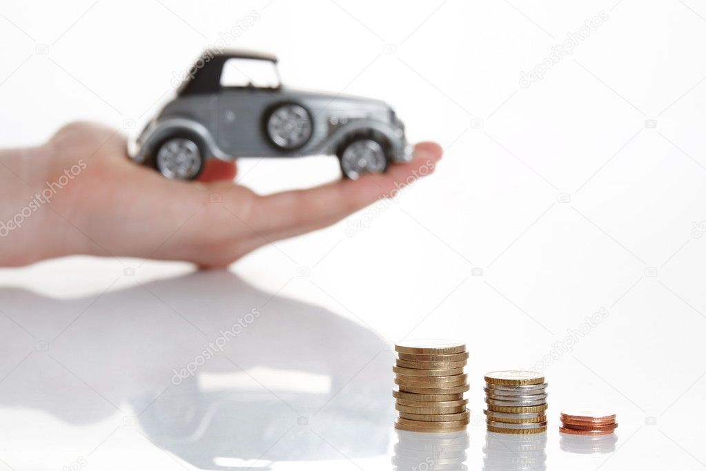Hand presenting good offer for little money — Stock Photo #4236985