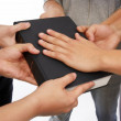 Stock Photo: Holding Holy Bible and taking promises