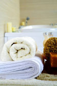 Bathroom and spa accessories — Stock Photo