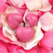 Heart shaped pink soaps — Stock Photo