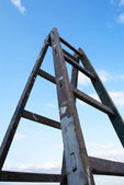 Wooden ladder — Stock Photo