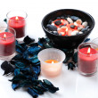 Stock Photo: Candles and potpourri