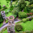 Royalty-Free Stock Photo: Aerial view of Blarney castle\'s towers and park