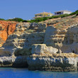 Cliff and grottos at Carvoeiro - Stock Photo