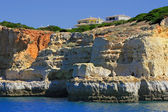 Cliff and grottos at Carvoeiro — Stock Photo