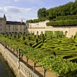 Stock Photo: Valencay castle, canal and garden