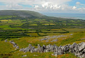 The Burren fields — Stock Photo