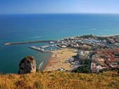 Top view of Terracina — Stock Photo
