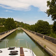 Stock Photo: Pleasure boating along canals