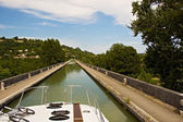 Pleasure boating along the canals — Stock Photo
