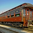 Charming old railway carriage - Stock Photo