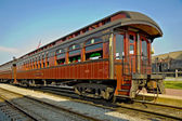 Charming old railway carriage — Stock Photo