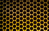 Yellow Grid Circular Background — Foto Stock