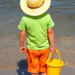 Boy and sea - Stock Photo