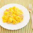 Stock Photo: Scrambled eggs