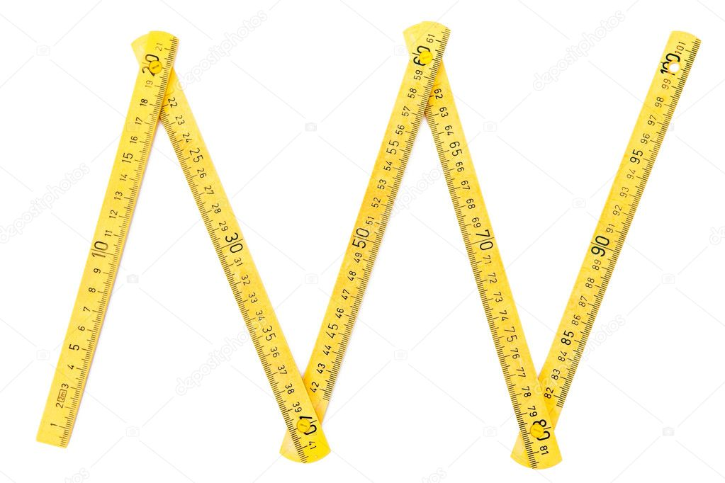 Wood meter on white — Stock Photo #4249667