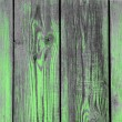 Stock Photo: Green paint on old wood