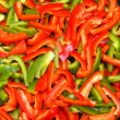 Stock Photo: Green and red pepper
