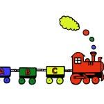 Funny educational train — Stock Photo #4252538