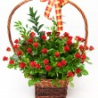 Basket of roses — Stock Photo #4252602