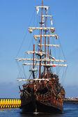 Vela-navio velho — Fotografia Stock